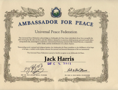 Ambassador For Peace